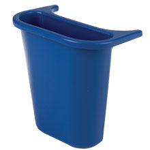 Wastebasket Recycling Side Bin, Blue - 4.75 Quart
