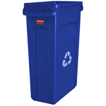 Slim Jim Recycling Container w/ Venting Channels - 23 Gallon