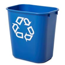 Deskside Recycling Container - 13 5/8 qt.