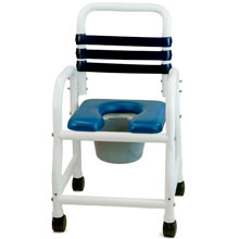 "Deluxe Shower Commode Chair - 18"" DNE-118-3TWL"