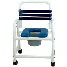 "Deluxe Shower Commode Chair - 22"" DNE-122-3TWL"