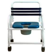 "Deluxe Shower Commode Chair - 26"" DNE-126-4TWL"