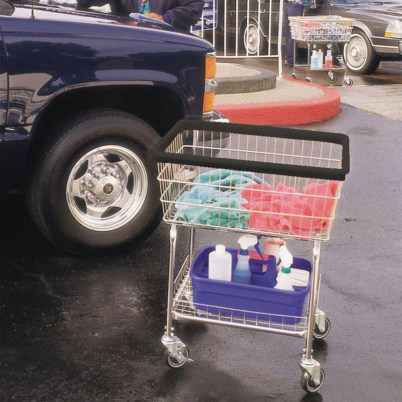 Wire Frame Car Wash Towel Cart 2 1 2 Bushel Capacity