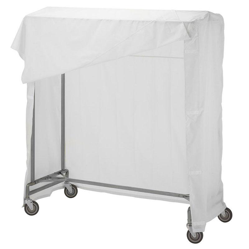 Portable Garment Rack Nylon Cover White Unoclean