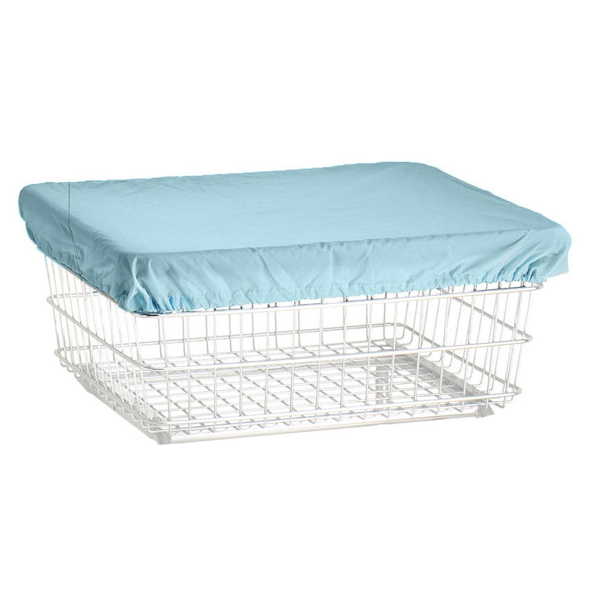 R&B Wire Laundry Cart Antimicrobial Cover Cap - Blue - UnoClean