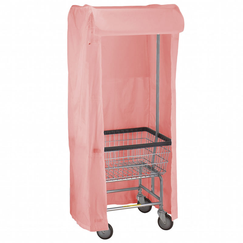 R&B Wire [151] Wire Frame Metal Laundry Cart Rack Frame & Nylon Cover - Mauve