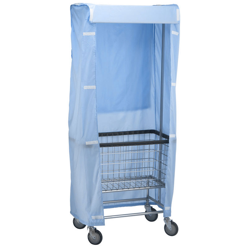 R&B Wire Laundry Cart Rack Nylon Cover - Blue