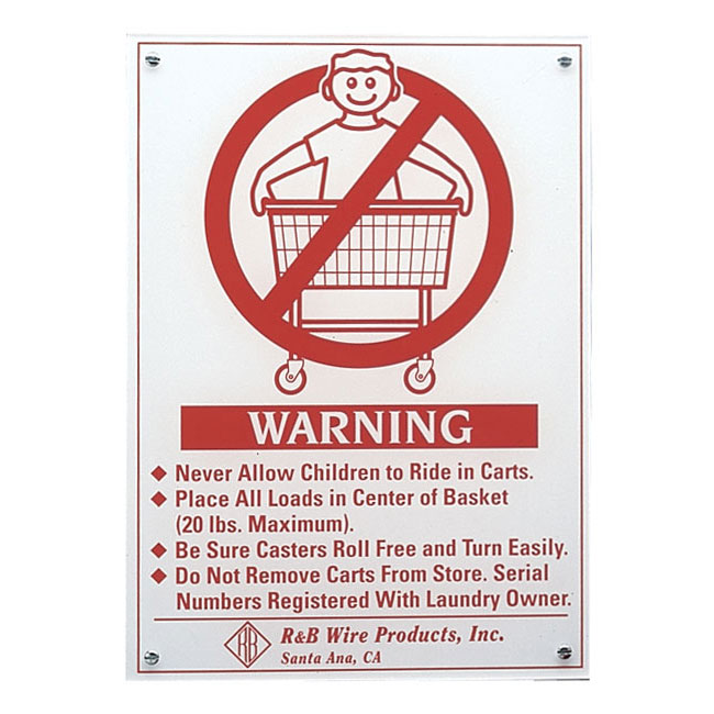 R Amp B Wire 903e Wall Mounted Warning Sign English