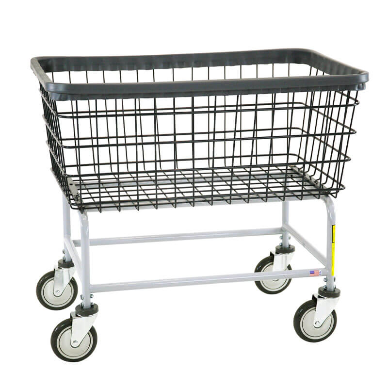 Large Capacity Wire Frame Metal Laundry Cart 4 1 2