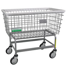 Antimicrobial Large Capacity Laundry Cart - 6 Bushel