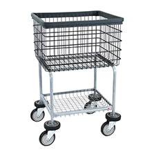 R&B Wire Deluxe Elevated Wire Frame Laundry Cart - 3 1/2 Bushel