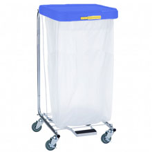R&B Wire [692] Single Medium Laundry Hamper w/ Foot Pedal - Blue