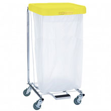 R&B Wire [692] Single Medium Laundry Hamper w/ Foot Pedal - Yellow