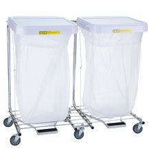 R&B Wire Double Medium Duty Metal Laundry Hamper