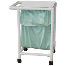 200 Series PVC Plastic Frame Single Laundry Hamper - Leak Proof Bag - 22 Gal.