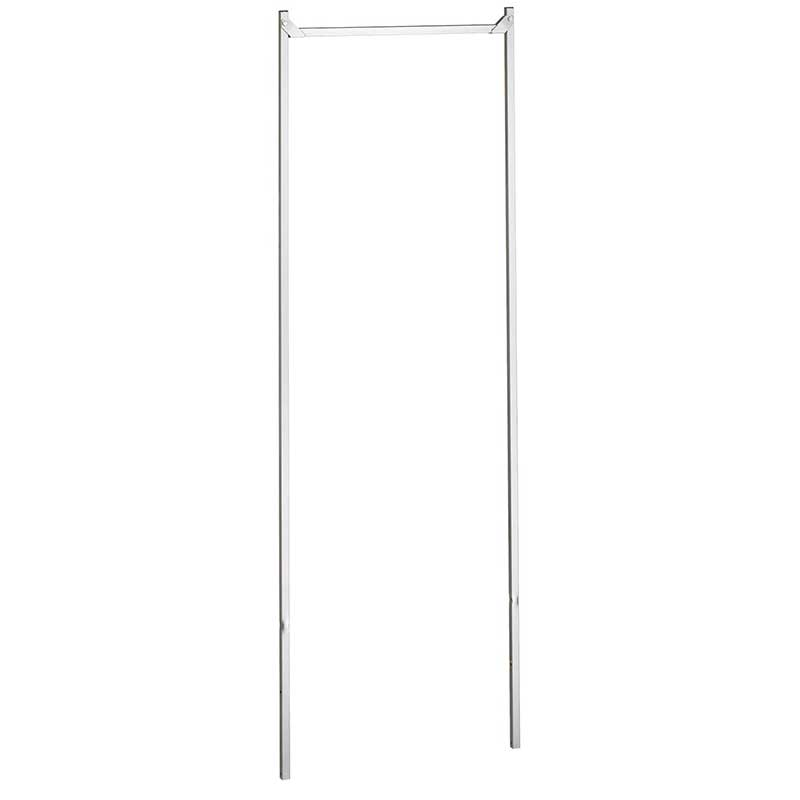 R&B Wire Laundry Cart Double Pole Garment Rack - 20 1/2