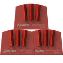Quick Tool RipTip Floor Tool - 25 Grit, 3 Segment - 3 Pack OF-600865