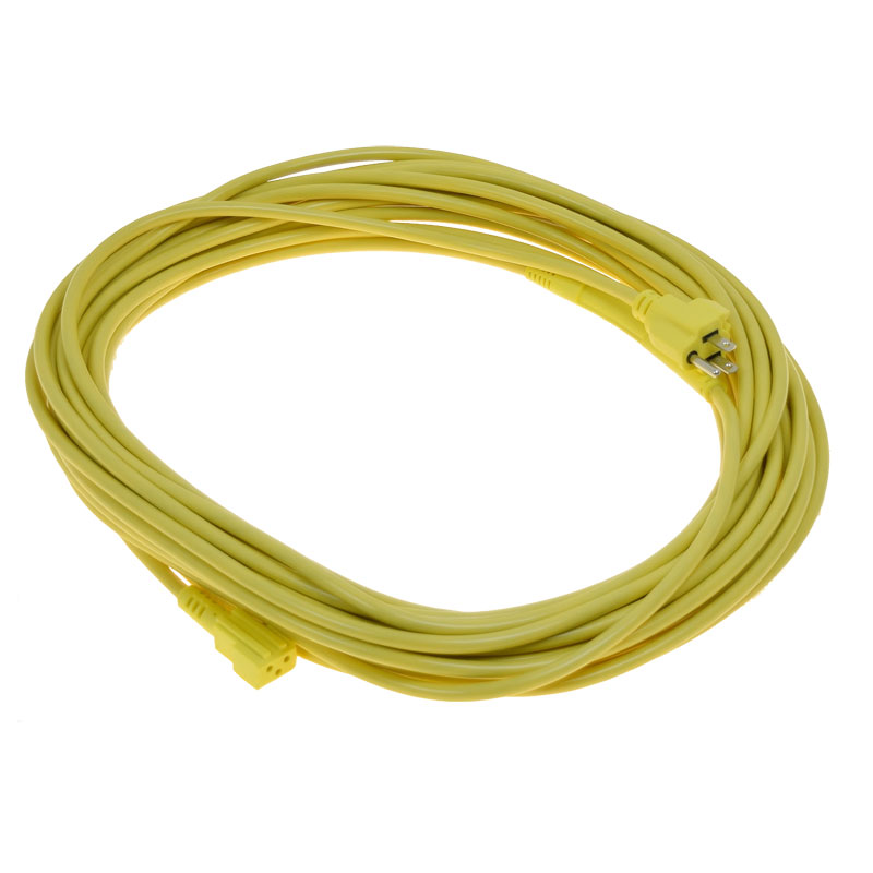 Pro-Team 50' Power Cord - Yellow w/Strain Relief Clasp