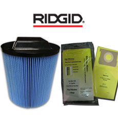 Ridgid Filters & Bags by Green Klean