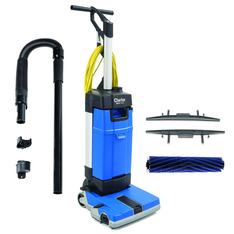 MA EC Upright Automatic Floor Scrubber W Carpet Tool Kit UnoClean - Carpet and tile floor cleaning machines