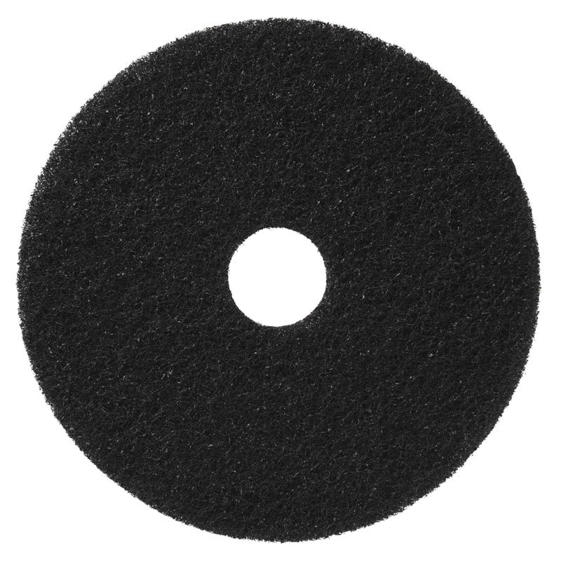 Black Stripping Floor Pad - (5) 18