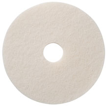 "White Polishing Floor Pad - (5) 17"" Dia. AMCO-401217"