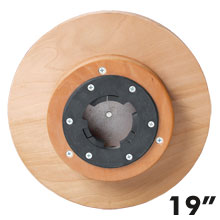 "Malish [781019] Floor Machine Heavy Duty Sandpaper Pad/Disc Driver w/ Universal Clutch Plate - 19"" Dia."