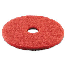 "Premiere Pads Floor Machine Spray Buffing Pad - Red - (5) 17"" Dia. Pads"