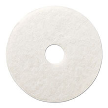 "Premiere Pads Floor Machine Polishing Pad - White - (5) 12"" Dia. Pads"