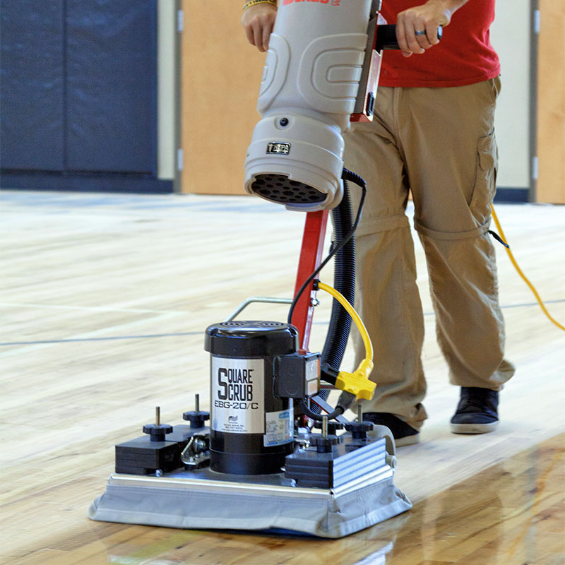 Square Scrub Ebg 20cv Hepa Surface Preparation Floor Machine Unoclean