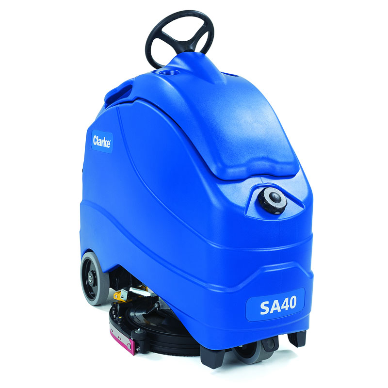Sa40 Stand On Battery Operated Auto Scrubber 208 Ah Wet