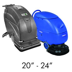 Mid-Size Battery Operated Floor Scrubbers - 20""