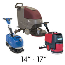 "Small Battery Operated Floor Scrubbers - 14""-17"""