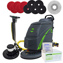 Electric Floor Scrubber & Floor Machine Gold Package