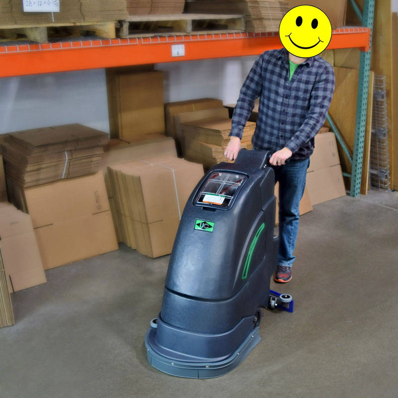 Stinger 18e Electric Floor Scrubber Gold Package Unoclean