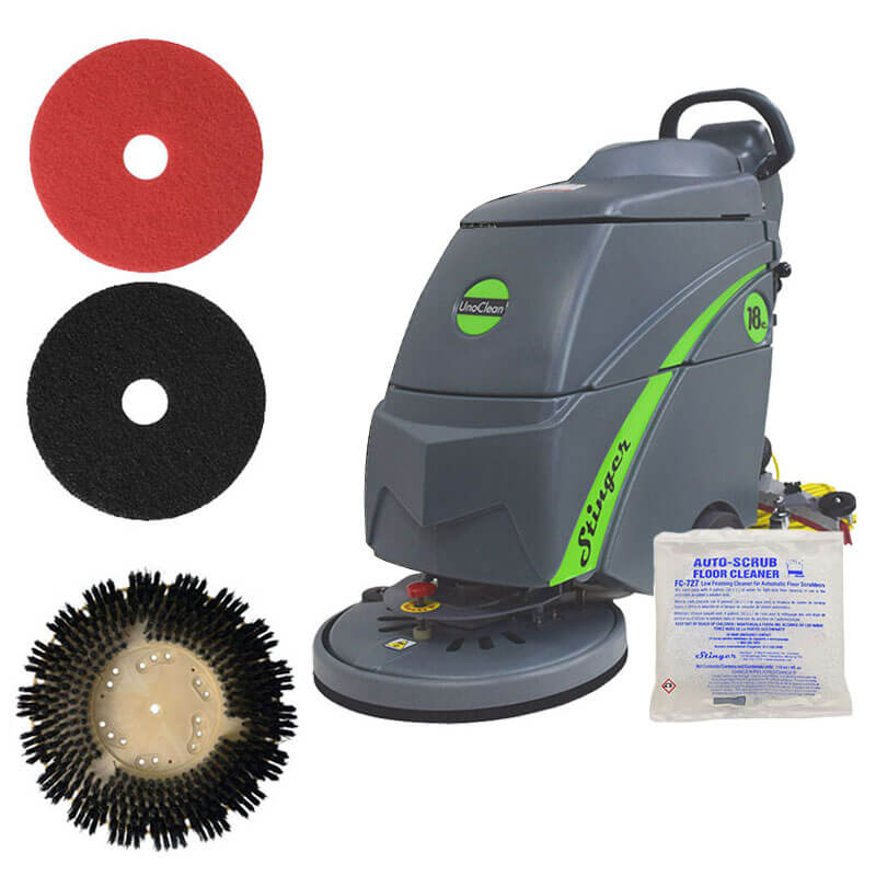 Stinger 18e Walk Behind Auto Scrubber Silver Package