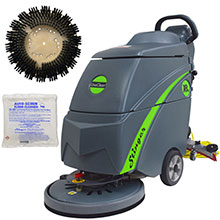 "Gym Mat Electric Floor Scrubber Kit - 18"" - With Cleaner UNO-18GYM-COMPLETE"