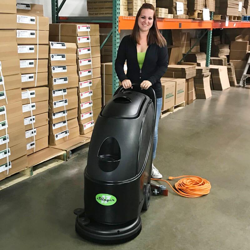 Unoclean 17fse Electric Floor Scrubber Walk Behind