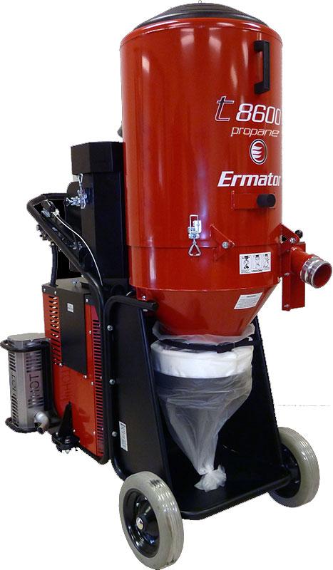 Ermator T8600 Propane Vacuum Hepa Dust Extractor Unoclean
