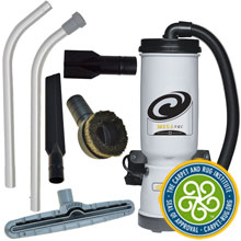 ProTeam MegaVac Back Pack Canister Vacuum w/ Attachment Kit D
