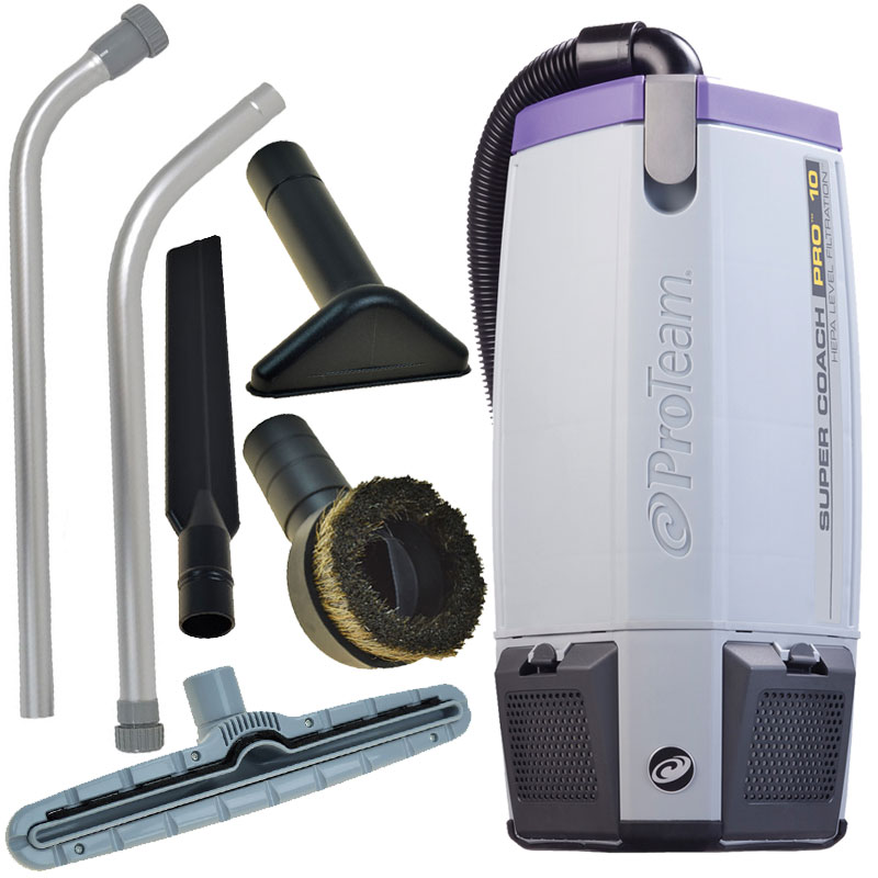 ProTeam Super Coach Pro 10 with Flooring Tool Kit Backpack Vacuum