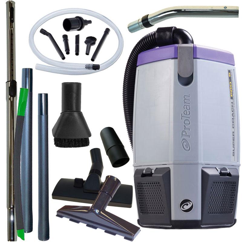 Super Coach Pro 6 Backpack Vacuum W Pest Management Tool