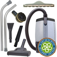 ProVac FS 6 Backpack Vacuum w/ Residential Cleaning Service Tool Kit
