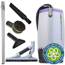 Super Coach Pro 10 Backpack Vacuum w/ ProBlade Hard Surface Tool Kit