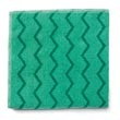 "Rubbermaid [Q620] HYGEN™ Microfiber All-Purpose Cleaning Cloth - Green - (12) 16"" x 16"" Cloths"