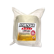 Mega Roll Wipes Refill, 8 x 8, White, 1200/Roll TXLL420