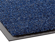 "Rely-On Olefin Indoor Wiper Mat, Blue/Black - 24"" x 36"" CWNGS0023MB"