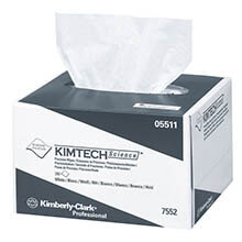 KIMTECH SCIENCE Precision Tissue Wipers, POP-UP* Box, 4 2/5 x 8 2/5, White, 280