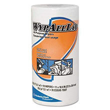 WYPALL L40 Cloth-Like Wipes, 10 2/5 x 11, White KCC05027