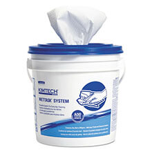KIMTECH PREP Wipers for Solvents, White, 60/Roll KCC06001